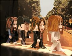 SO COOL!! FREE templates for Paper Toy BEATLES...John, Paul, George & Ringo!!!!
