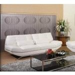 Mariano Furniture - Bonded Leather Sofa in White - BQS8746P2-S