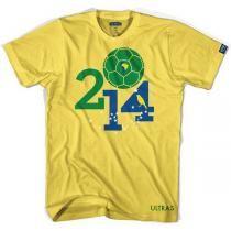 Futbol gear -- Brasil 2014 World Cup tee