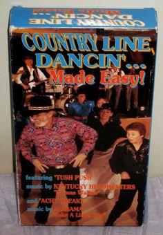 VHS Country Line Dancin' Made Easy! Achy Breaky/Tush Push/Dumas Walker #EN04