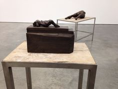 Bronze sculptures from the Tracey Emin Exhibition 'the last great adventure is you' at the White cube gallery, London