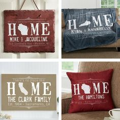 """Mother in Law Christmas Gifts 2017 - How gorgeous are these personalized """"State of Love"""" gifts?"""