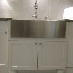 Stainless apron sink Farmhouse Design Ideas, Pictures, Remodel, and Decor