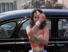 Bullets & Bracelets. Lynda Carter as Wonder Woman from the 1976 pilot. Kapow!