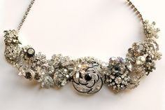 repurposed rhinestone jewelry. beautiful