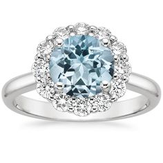 Aquamarine Lotus Flower Ring (1/3 ct. tw.) from Brilliant Earth