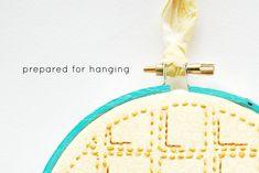 Preparing a Hoop for Hanging