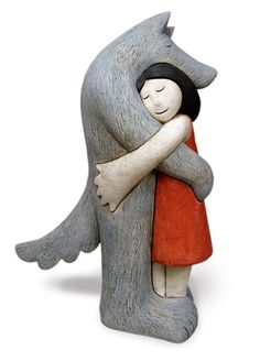 Ceramic sculpture by Paul Smith…I'm feeling Little Red & Big Bad – Ceramic Art, Ceramic Pottery Ceramic Figures, Clay Figures, Ceramic Artists, Sculptures Céramiques, Sculpture Art, Ceramic Clay, Ceramic Pottery, Creation Deco, Pottery Sculpture