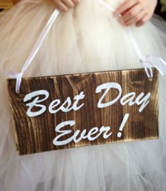 Best Day Ever, rustic wedding sign, wedding photo prop, wood wedding signs, Thank you sign, reversible sign, by Justasmalltowngirlx2 on Etsy