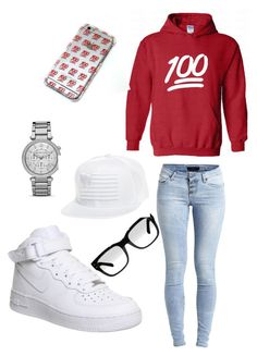 """Chillaaann ?"" by jealoustype ❤ liked on Polyvore featuring NIKE, Object Collectors Item and MICHAEL Michael Kors"