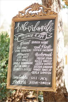 Wedding Signage - Ceremony Program #meetthehamptons  @weddingchicks