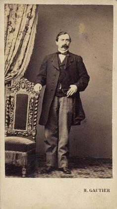 Gautier, H.: retrato caballero, CDV, 1865. Hesperus´ Collection