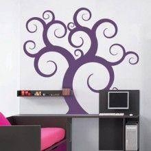 Curvy tree decal