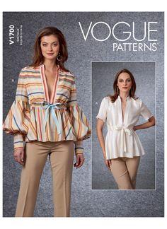 Hat Patterns To Sew, Vogue Sewing Patterns, Maternity Patterns, Oktoberfest Costume, Jacket Pattern, Madame, Fashion Outfits, Tops, Sewing Ideas