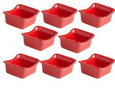 Rachael Ray Bubble & Brown Set of 8 3oz. Mini Dippers