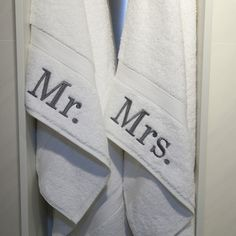 Authentic Hotel and Spa Personalized Mr. and Mrs. Turkish Cotton Hand Towel (Set of 2) | Overstock™ Shopping - Top Rated Bath Towels $30.