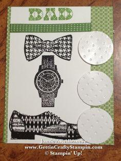 Dad Argyle Golfing card is retro & cool #papercrafting #dadcard #cardmaking #golfbirthdaycard