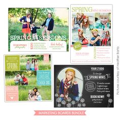 Spring Marketing Ideas | Photoshop templates for photographers by Birdesign