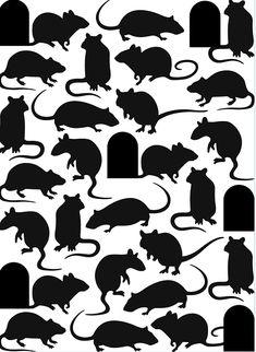 Darice Mice And Door Embossing Folder Casa Halloween, Halloween Projects, Diy Halloween Decorations, Halloween 2019, Holidays Halloween, Happy Halloween, Halloween Party, Rat Silhouette, Halloween Window Silhouettes