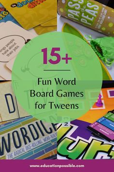 Are your tweens ready for the demands of high school English? Playing some of these word games is a wonderful way to improve your middle schooler's vocabulary and spelling. Add them to your lesson plans to build language skills. Not only are they great tools for school, but they're so much fun you'll want to play them during a family game night. Word Building, Vocabulary Building, Tween Games, Educational Board Games, Alternative Education, Fun Board Games, Middle Schoolers, High School English, Family Game Night