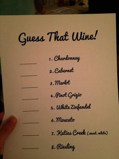 Hostess with the Mostess® - Wine Tasting This is such a cute idea!