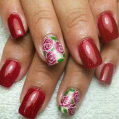 Rose Nails, Beauty, Beauty Illustration, Pink Nails