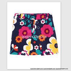 Gymboree Friendship Camp Yellow Floral Tiered Ruffle Skirt//Skort Size 3 6 12 NEW