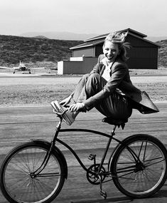 bicycle  this would have been me...I use to stand on the seat like a ballerina with one foot back