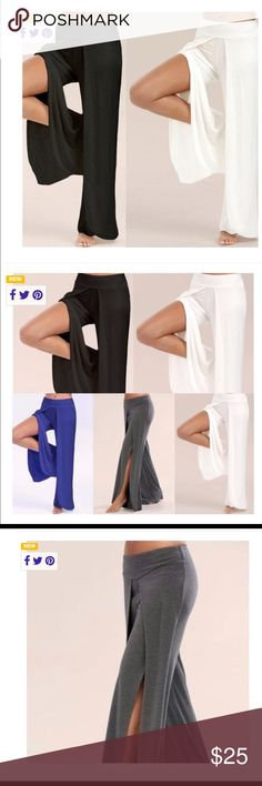 Women's pants Wide leg casual yoga pants. By Split Bottom Sports. Selling in white split bottom sports Pants Wide Leg