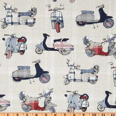 Designed for Michael Miller Fabrics, this cotton print fabric is perfect for quilting, apparel and home décor accents. Colors include shades of denim-looking blues, soft red, ecru and white.