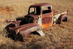 Even old rusty trucks have a great look