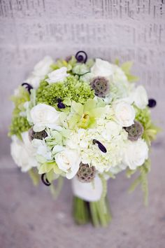 beautiful bouquet with just the touch of purple