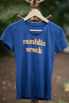 "Women's Georgia Tech ""Ramblin Wreck"" Vintage Tee. $34.95, via Etsy."