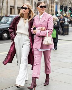 10 Best Street Style Looks From London Fashion Week 10 Best Street Style Looks from London Fashion Week the Tine Andrea & Darja Barannik at the LFW 2019 Andre M Best Street Style, Looks Street Style, Spring Street Style, Cool Street Fashion, Street Chic, Street Style Women, Street Wear, Fashion Mode, Look Fashion