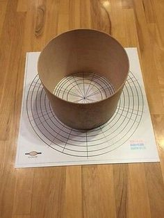 Template for stave drum shell