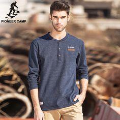 2fc09a0f584 Пионерский лагерь Новая Мода 2017 Мужская футболка брендовая одежда толстая  футболка мужская хлопковая Удобная наивысшего качества