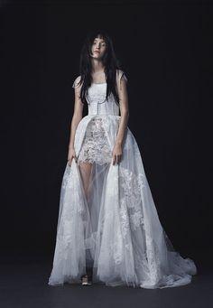 A modern and edgy Vera Wang wedding dress