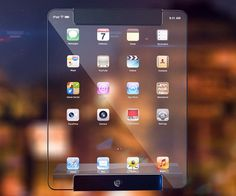 Futuristic Transparent iPad Concept (+VIDEO) Apple, Ricardo Luis Monteiro Afonso