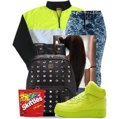 . by peaches1121 on Polyvore featuring polyvore, fashion, style, NIKE and MCM