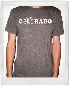 Bicycle Shirt  Bike Colorado  American by FirstChairClothing, $22.00