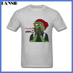 Men T Shirts Latest Design Short Sleeve Crewneck Cotton T-shirt Male Twenty One Pilots Pepe Frog Pepe Meme Group Clothing