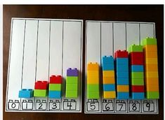 counting or even introducing graphs with Legos Fairy Dust Teaching Kindergarten… Teaching Kindergarten, Preschool Learning, Preschool Activities, Math Gs, Fun Math, Numbers Preschool, Math Numbers, Montessori Math, Homeschool Math