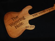 Larger Size Custom made hand carved personalized Guitar Guitar sign custom sign guitar player gift bar sign home bar Custom Engraving, Laser Engraving, How To Make Box, Bar Signs, Light Colors, Hand Carved, Custom Made, Etsy Seller, Custom Design