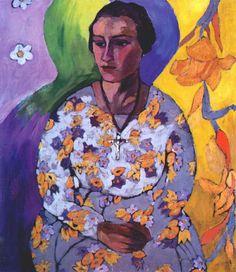 kaufen Gemälde'Porträt von N. Svendonskaya' von Aristarkh Lentulov - Kaufen Sie eine handgemalte Ölreproduktion , Kunstreproduktion, Ölgemäldereproduktionen, Kunst auf Leinwand, Kunstwerksreproduktion, Leinwand Ölgemälde Reproduktion Kunstwerk