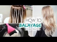 How to Balayage Ombre Step by Step Hair Painting Blond Ombre, Balayage Hair Blonde, Ombre Hair Color, Cool Hair Color, Balayage Diy, Hair Colors, How To Balyage Hair, Short Balayage, How To Ombre Hair