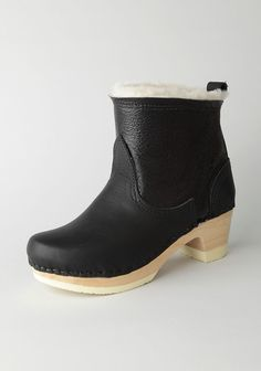 7b7b7f977da Biker Boot with Shearling by No.6. Nubuck  amp  full grain leather combo