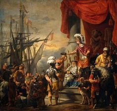 Aeneas at the court of King Latino, oil on canvas by Ferdinand Bol ca Amsterdam, Rijksmuseum. Rembrandt, Latina, Ferdinand Bol, Ancient World History, Art History, Baroque Painting, Dutch Golden Age, Dutch Artists, Oil Painting Reproductions