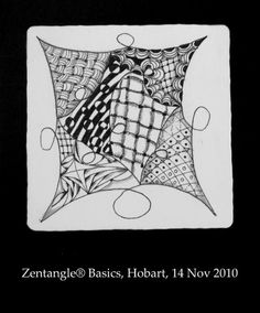 Zentangles® created by students at the workshop last Sunday. None of these students had ever tangled before. Beautiful art play!    - #DRAW #ZENTANGLE #ZENDALA #TANGLE #DOODLE #BLACKWHITE #BLACKANDWHITE #SCHWARZWEISS
