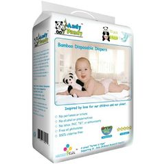 andy pandy - premium bamboo disposable diapers best for sensitive baby's bottom