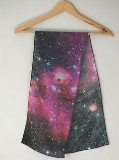 Nebula Galaxy Print Silk Scarf - Young Stars. from pillarsofcreation via Etsy.